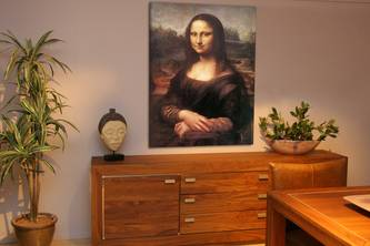 mona lisa da vinci gevernist canvas